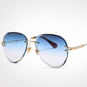 Blue Red Aviation Sunglasses Women