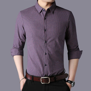 Men Plaid Workout Slim Fit Shirts
