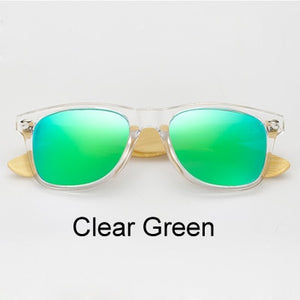 Real Bamboo Sunglasses Men Women Polarized