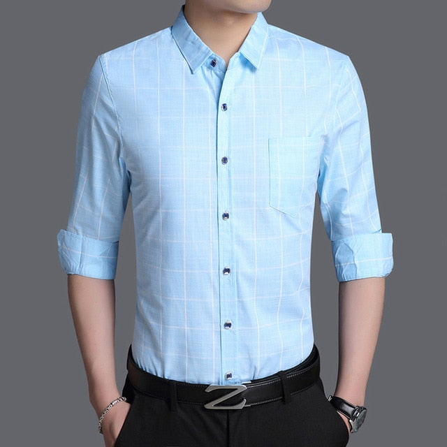 Shirts Plaid Casual Mens - Narvay.com