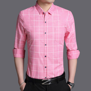 Shirts Plaid Casual Mens