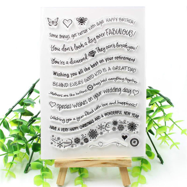 Clear Silicone Stamps Or Cutting Dies
