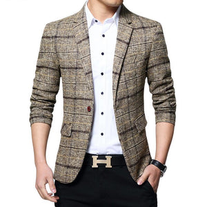 Suit Jacket Casual Blazers Men
