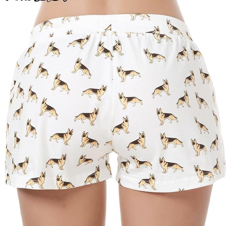Pajama Shorts Cotton German Shepherd Print