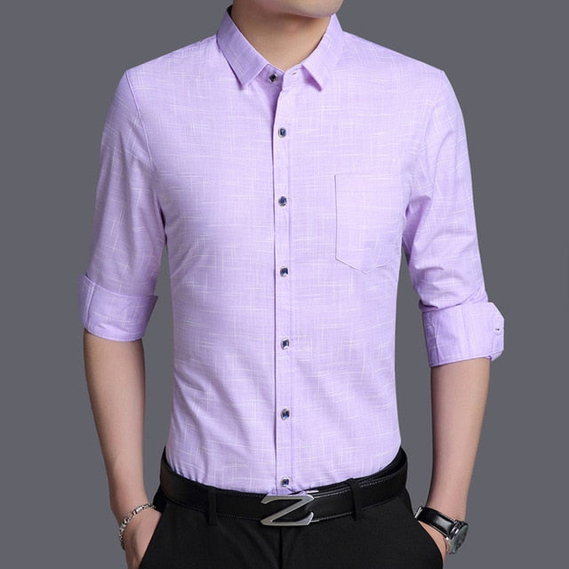 Men's Button Up Long Sleeve Shirts