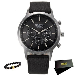 Wristwatch Leather Strap Male Clock