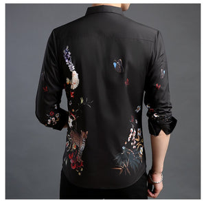 Print Floral Casual Men shirts