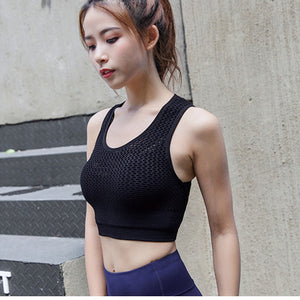 Women High Impact Mesh Sports Bra