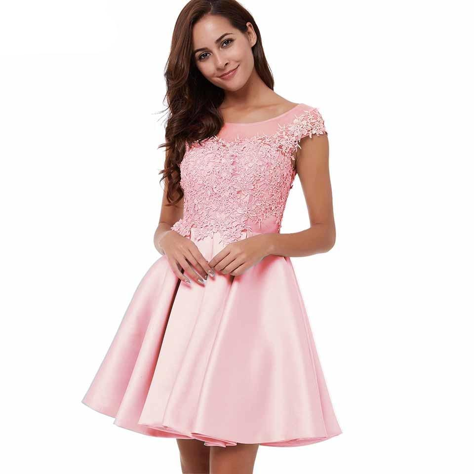 short lace homecoming dress