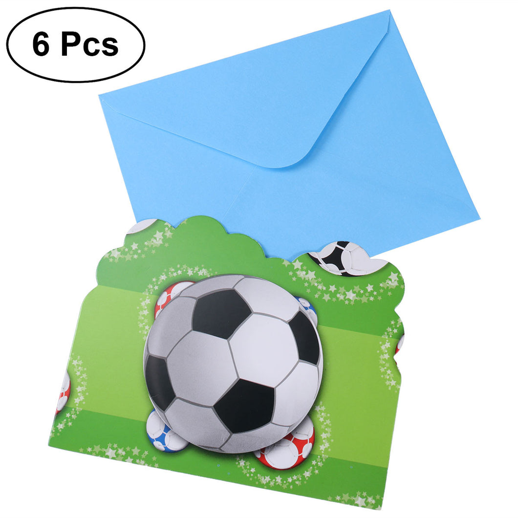 World Cup Football Sports Invitation Card 6 Pc