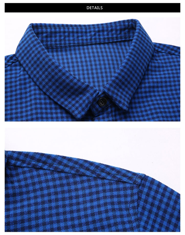 Men Plaid Long Sleeve Shirts