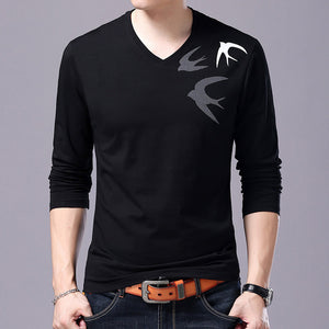 T Shirt Men V Neck Trending Tops