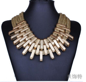 Women Necklace Gradient Drops Choker Maxi Colar