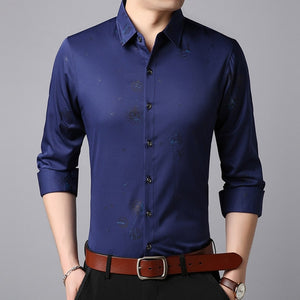 Slim Fit Streetwear Long Sleeve Shirts