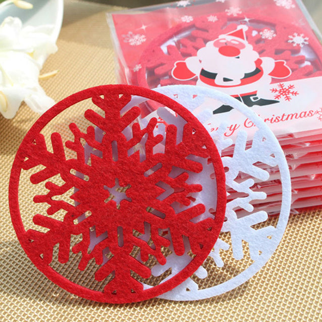Christmas Decorations Snowflakes Cup Pad - Narvay.com