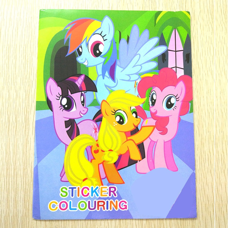 Pony Coloring Sticker Book