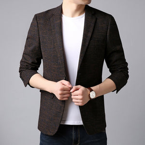 Blazer Jacket Men Korean Trending Casual Men