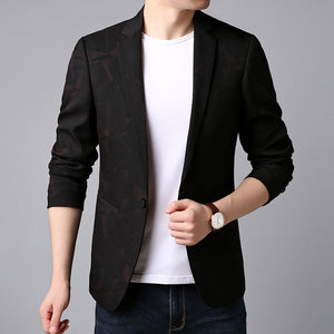 Blazer Jacket Floral Casual Men