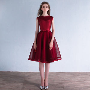 Burgundy Bridesmaid Dresses Prom Dress Honor Largo