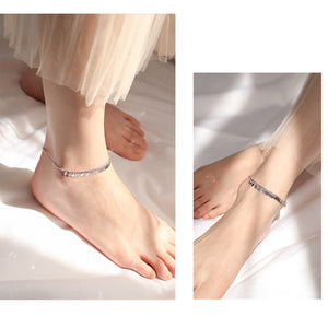 Tree leaf anklets silver fashion