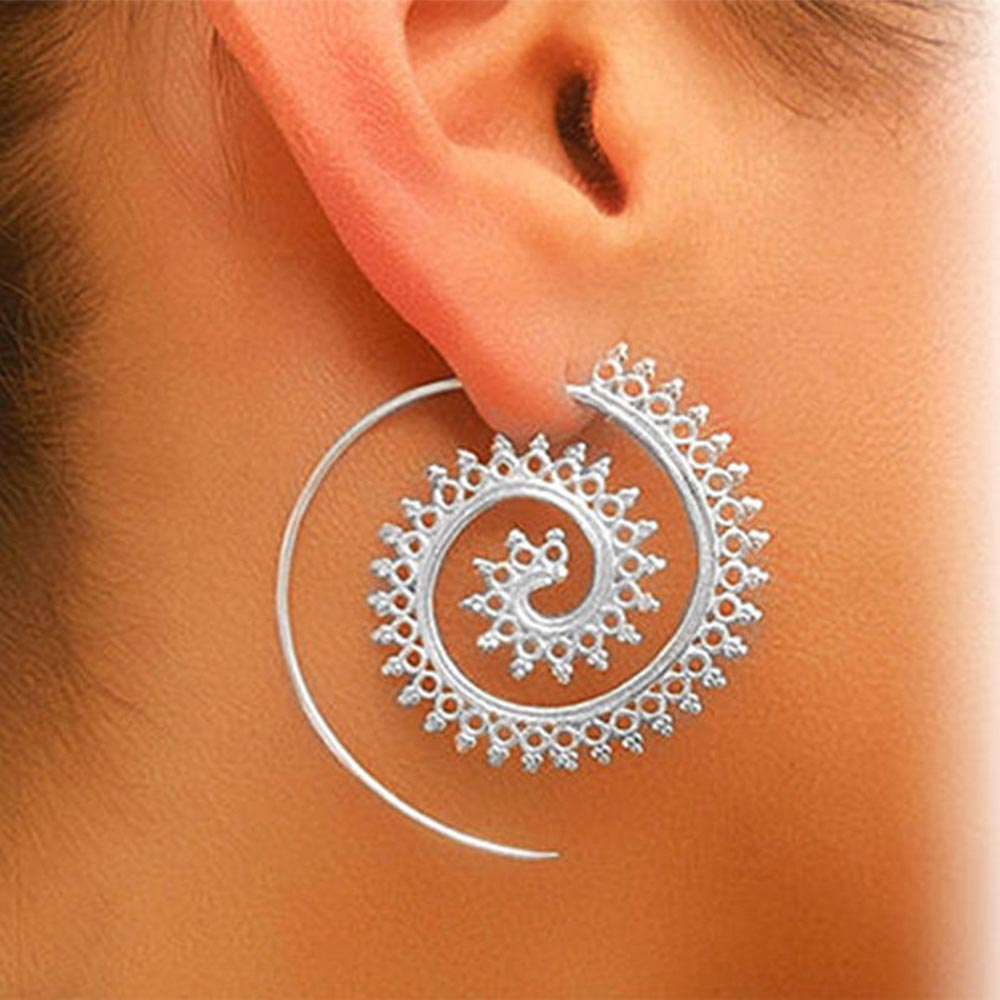 Romantic Spiral Stud Ear For Women - Narvay.com