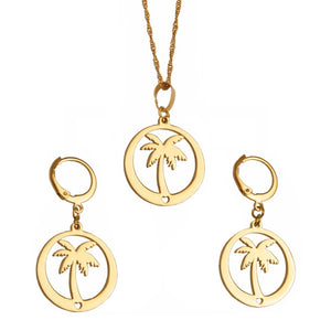 Coconut Tree Earrings for Women