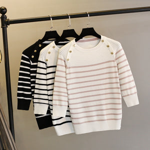 Women Pullover Sweater Spring Autumn Half