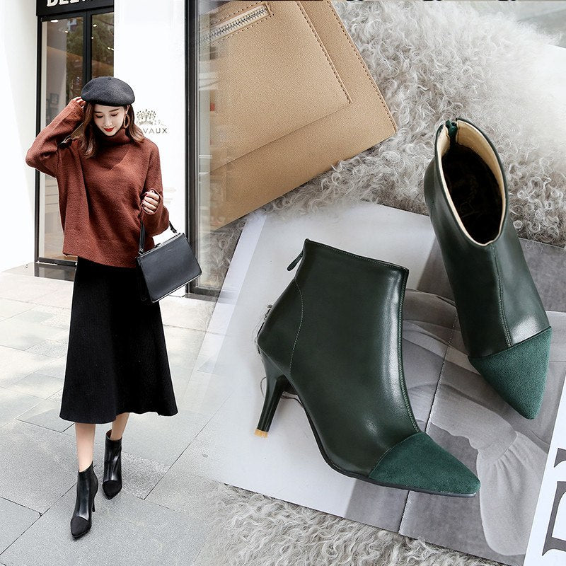 Pointed Toe High Heel Women Boots