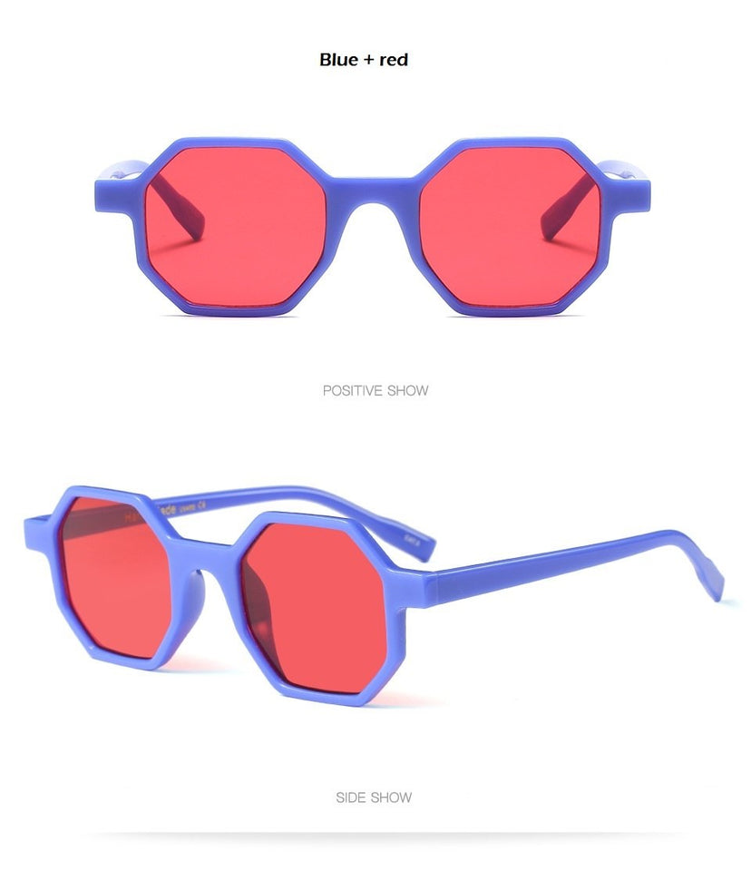 Small hexagon Sunglasses Women
