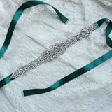 Crystal Wedding Accessories Bridal Ribbon Sash Belt