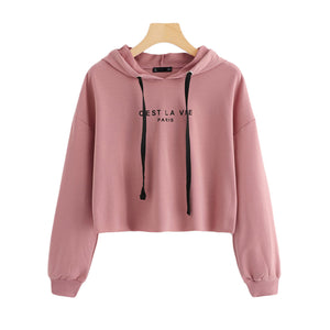 Women Hoodies Sweatshirt Drop Shoulder