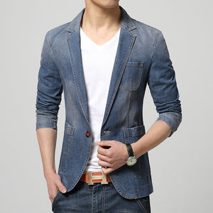 Men Trend Casual Denim Jacket