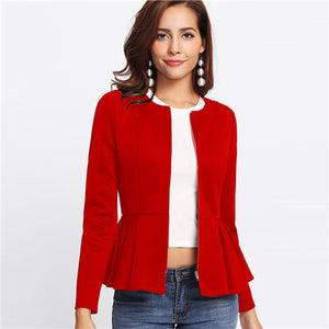 Ruffle Tiered Layer Outerwear Jackets - Narvay.com