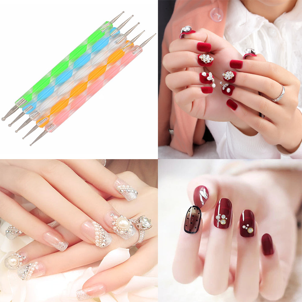 Nail Art Dotting Pen Marbleizing Painting