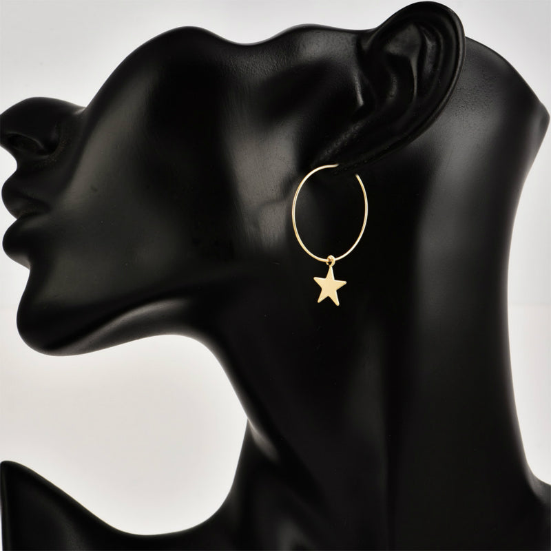 Simple Pentagram Ear Ring - Narvay.com