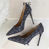 High Heels Sexy Glitter Bright Pumps