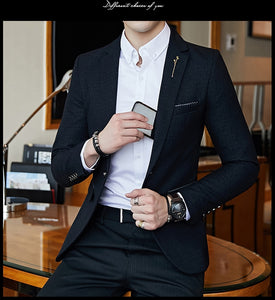 Slim Fit Mens Blazer Suit Jacket Men