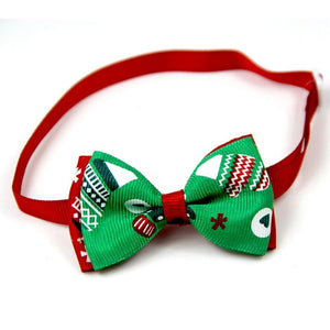 Christmas Pet Collar Bow Tie