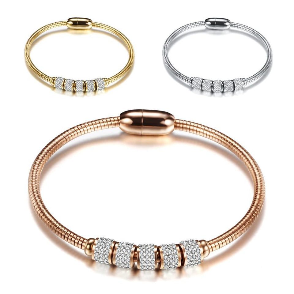 Crystal Magnetic Bangle For Women