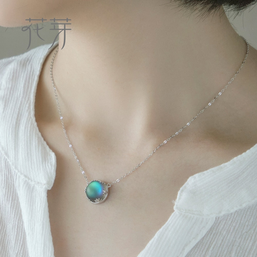 Necklace Halo Crystal Gemstone