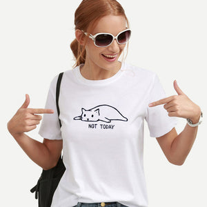 Cat Graphic Tees Women Funny T shirts Women