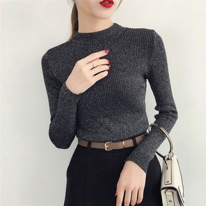 Shiny Autumn Winter Sweater Women - Narvay.com