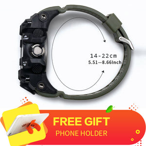 Wristwatch LED Clock Sport Watch