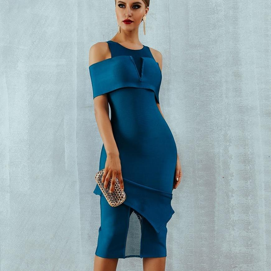 Sexy Off Shoulder Hollow Out Midi Dress - Narvay.com