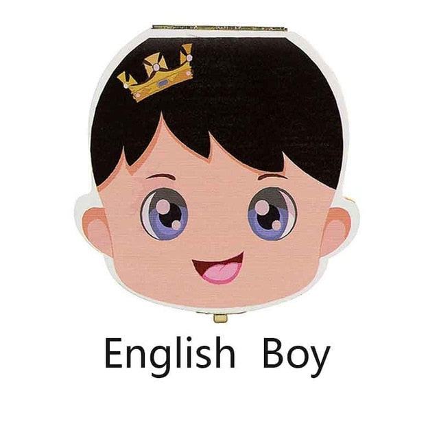 Spanish English  French Baby Wood Tooth
