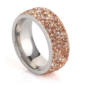 Crystal Wedding Rings  Fashion Rhinestone