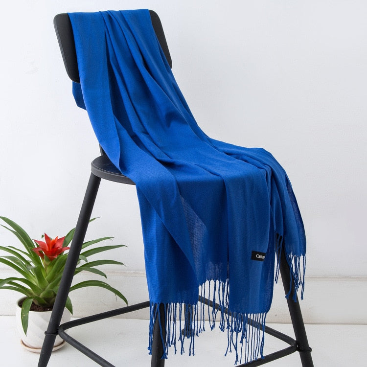 cashmere scarves with tassel lady
