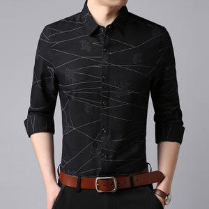 Mens Korean Purple Slim Fit Streetwear Shirt