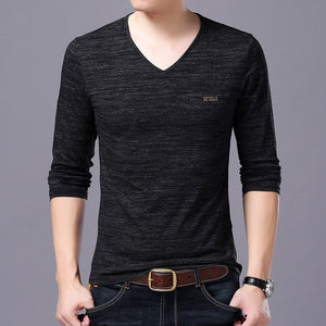 T Shirts Men V Neck Tops - Narvay.com