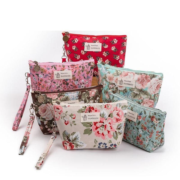 b674f214a9 Find the best selection of cheap vintage cosmetic bags in bulk.The Vintage  Cosmetic Company Floral Cosmetic Clutch Bag.Women Makeup Bags Female Zipper.
